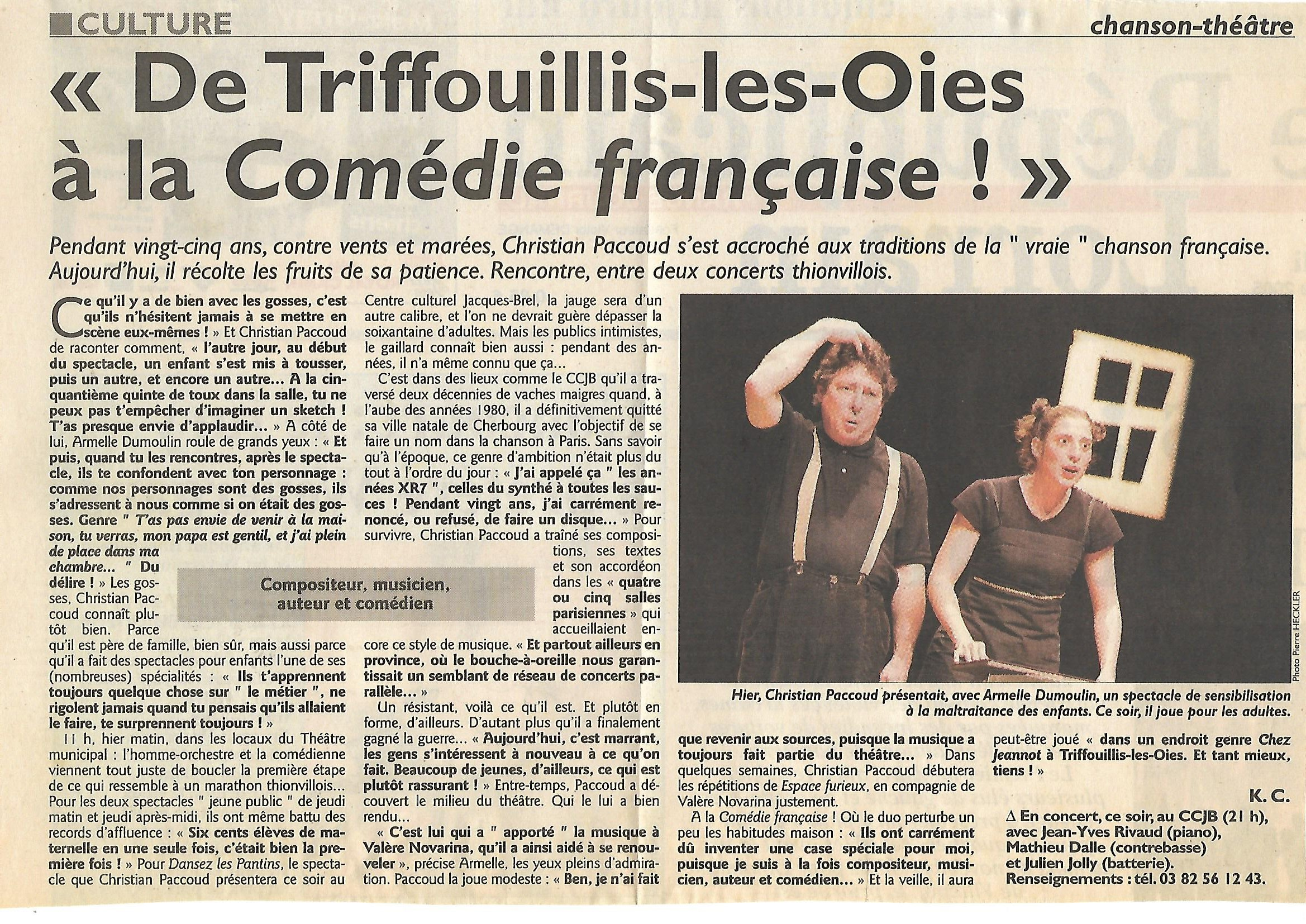ARTICLE THIONVILLE